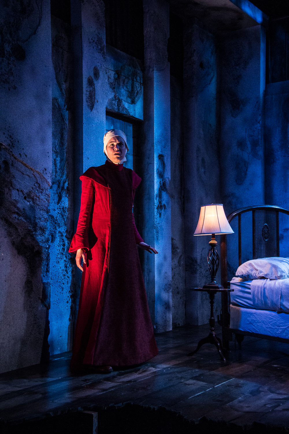 Corinne Mohlenhoff as Offred in The Handmaids Tale at Know Theatre - Photo Credit Daniel R. Winters.2 (1)