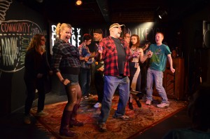 Local fan faves Hugo West Theatricals tease their 2014 hit HOT DAMN! IT'S THE LOVELAND FROG during the 60 Second Preview Event last Fringe.
