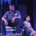 Know Theatre presents BLACKTOP SKY - Landon Horton as Wynn - Aziza Macklin as Ida - Photo by Daniel R. Winters Photography