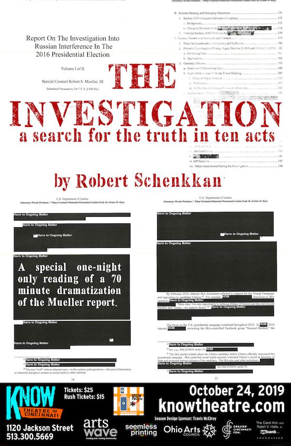 The Investigation by Robert Schenkkan